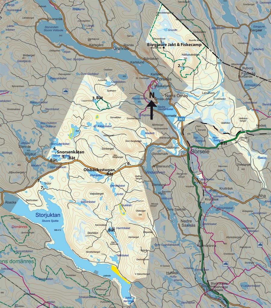 Sorselefisket Karta